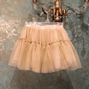 Gymboree Bottoms - NWOT! Gold glitter tutu skirt Sz 3T by Gymboree